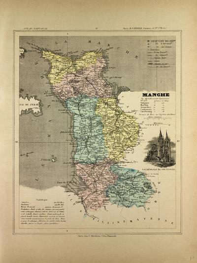 Map of Manche France--Giclee Print