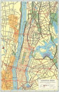 map of manhattan and bronx new york