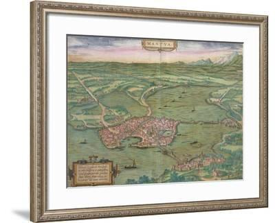 "Map of Mantua, from ""Civitates Orbis Terrarum"" by Georg Braun and Frans Hogenberg, 1575-Joris Hoefnagel-Framed Giclee Print"
