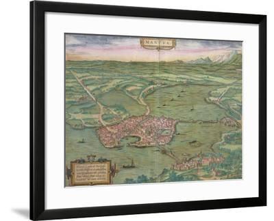 "Map of Mantua, from ""Civitates Orbis Terrarum"" by Georg Braun and Frans Hogenberg, 1575-Joris Hoefnagel-Framed Giclee Print"
