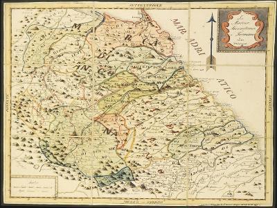 Map of Marca Anconetana and Fermana, Bologna, Italy, 1831--Giclee Print