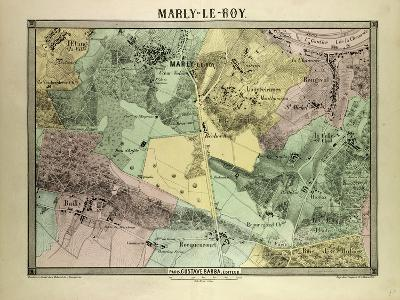Map of Marly-Le-Roy, France--Giclee Print