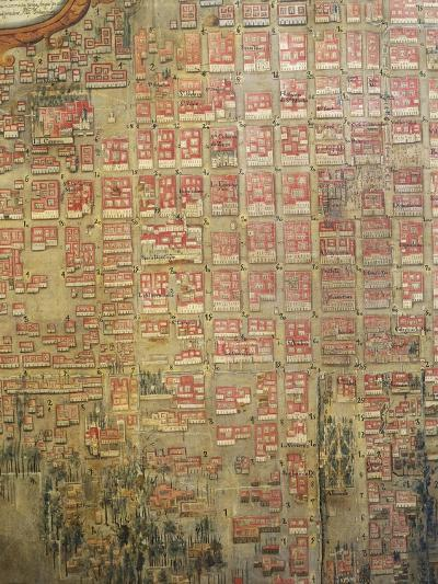Map of Mexico City, 1737--Giclee Print