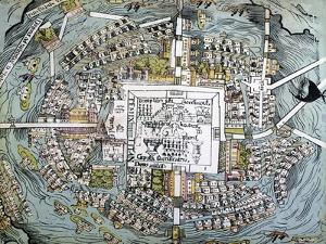 Map of Mexico City Attributed to Cortes
