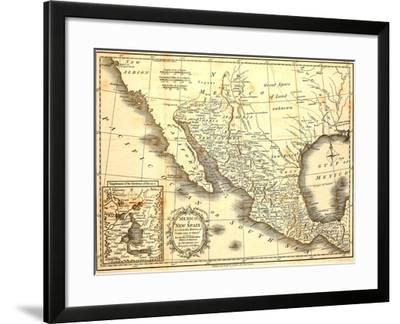Map Of Mexico Dated 1821 Art Print by Tektite | Art.com