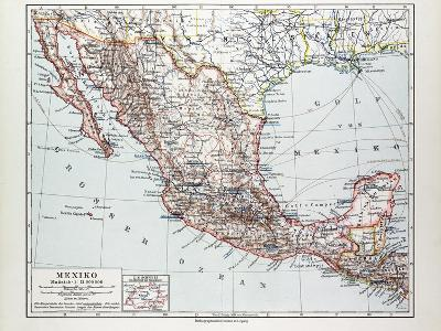Map of Mexiko 1899--Giclee Print