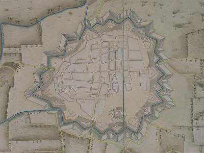Map of Military Fortifications in Novara, 1775--Giclee Print