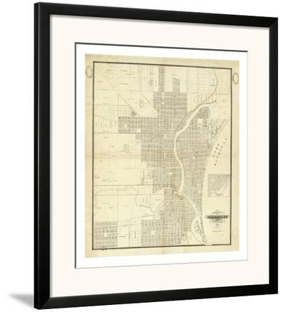Map of Milwaukee, c.1856-I^ A^ Lapham-Framed Art Print