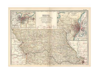 Map of Missouri, Northern Part-Encyclopaedia Britannica-Giclee Print
