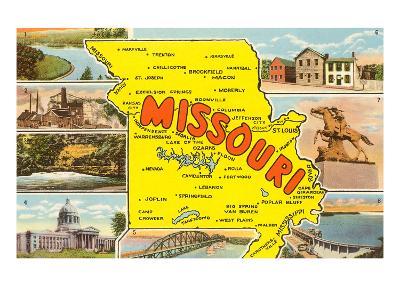 Map of Missouri--Art Print