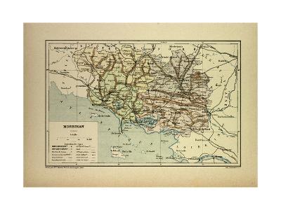 Map of Morbihan France--Giclee Print