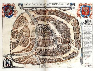 Map of Moscow, 1572-Georg Braun-Giclee Print