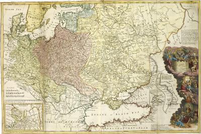 Map of Muscovy-Herman Moll-Giclee Print