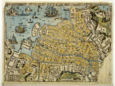 Map of Nagasaki, C.1801--Giclee Print