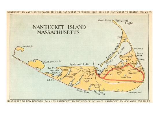 Map of Nantucket Island, Machusetts Art Print by | Art.com Map Nantucket on new england map, nantucket photos, nantucket real estate, charles river map, cape cod map, hawaii map, flights to nantucket, hyannis map, suffolk county map, long island map, nantucket hotels, united states map, nantucket airlines, west indies map, nantucket tourism, maine map, martha's vineyard map, town of nantucket, north carolina map, newport map, block island map, plymouth map, connecticut shore map, boston map, nantucket vacation rentals, south carolina map, massachusetts map, nantucket.net, hudson ma on map, billingsgate island map, nantucket attractions, nantucket guide,