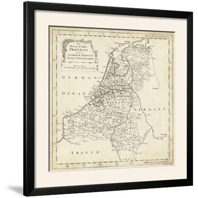Map of Netherlands-T^ Jeffreys-Framed Photographic Print