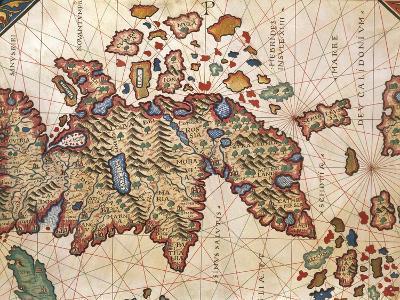 Map of New Caledonia, from Nautical Atlas by Giorgio Sideri Called Callapoda--Giclee Print