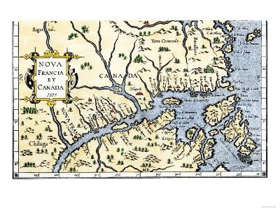 Map of New France and Canada, c.1597--Giclee Print