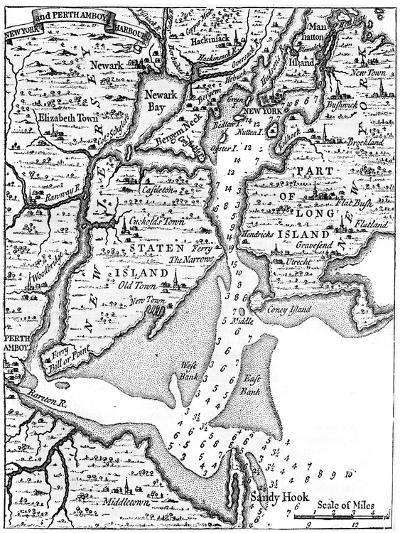 Map of New York About the Middle of the 18th Century, C1880--Giclee Print