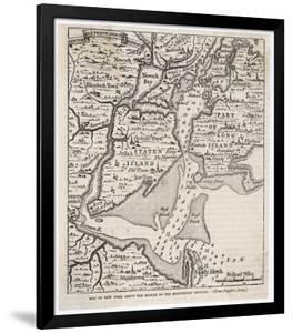 Map of New York from the Middle of the Eighteenth Century