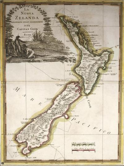 Map of New Zealand--Giclee Print