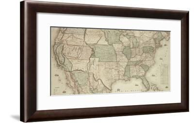 Map of North America, 1853 - Detail-Jacob Monk-Framed Giclee Print