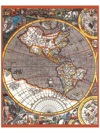 Map of North America II--Art Print