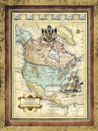 Map of North America-Vision Studio-Art Print