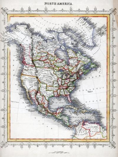 Map of North America--Giclee Print