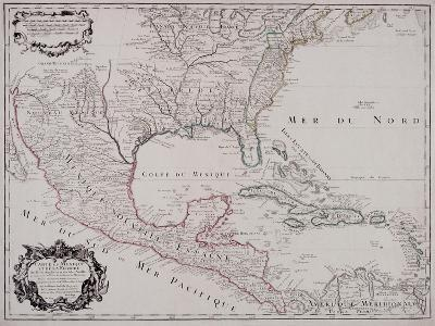 Map of North and Central America, 1703--Giclee Print