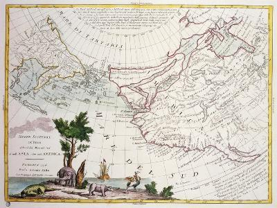 Map of North-East Asia and North-West America--Giclee Print