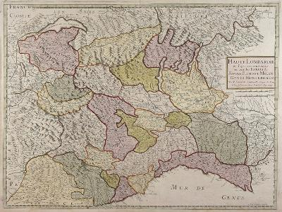 Map of North-Western Italy and Savoy--Giclee Print