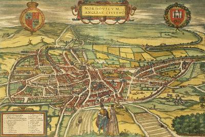Map of Norwich from Civitates Orbis Terrarum--Giclee Print