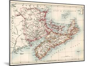Map of Nova Scotia, Prince Edward Island, and New Brunswick, 1870s