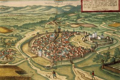Map of Novara, from Civitates Orbis Terrarum--Giclee Print