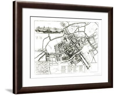 Map of Oxford, 1643-Wenceslaus Hollar-Framed Giclee Print