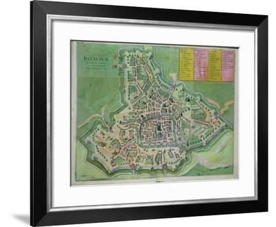 Map of Padua, from Civitates Orbis Terrarum by Georg Braun-Joris Hoefnagel-Framed Giclee Print