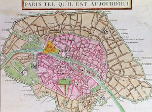 Map of Paris, June 1800