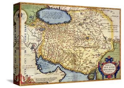 "Map of Persia, from the ""Theatrum Orbis Terrarum"", Pub. by Abraham Ortelius Antwerp, circa 1590--Stretched Canvas Print"