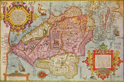 Map of Peru, c1599-Arnoldus Florentius-Giclee Print