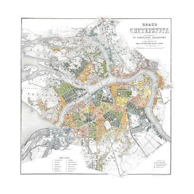 Map of Petersburg--Giclee Print