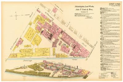 Map of Philadelphia Lead Works, 1889--Giclee Print