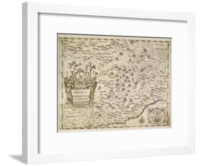 Map of Piedmont and Western Liguria Region-Giovanni Battista Cassini-Framed Giclee Print