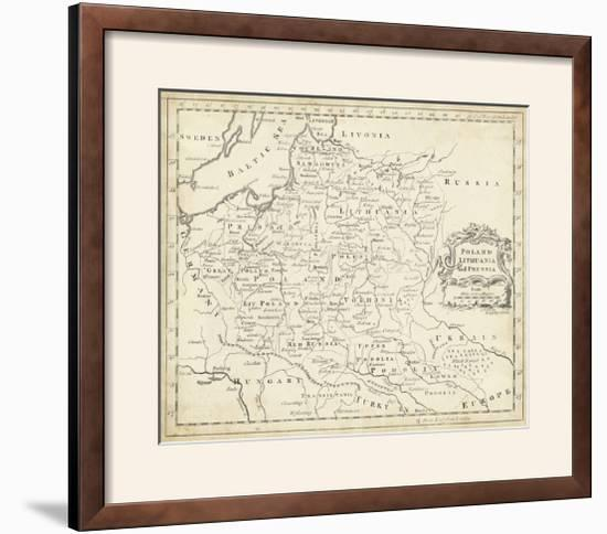 Map of Poland-T^ Jeffreys-Framed Photographic Print