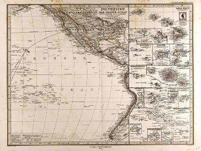 Map of Polynesia and Oceania, 1872--Giclee Print