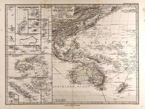 Map of Polynesia and Oceania, 1872