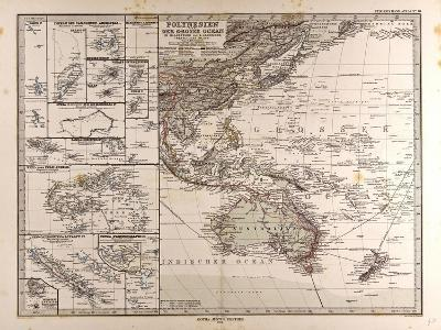 Map of Polynesia and Oceania, 1872--Giclee Print