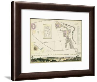 Map of Pompeii-T.E. Nicholson-Framed Art Print