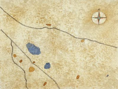 Map of Pre-Roman Alban Hills--Giclee Print