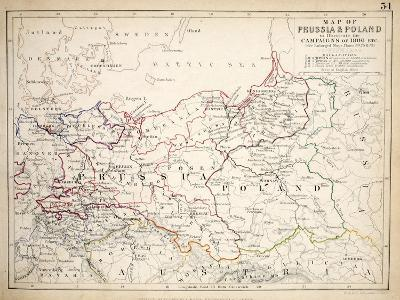Map of Prussia and Poland, Published by William Blackwood and Sons, Edinburgh and London, 1848-Alexander Keith Johnston-Giclee Print